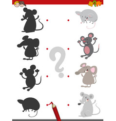 Shadow game with mice vector