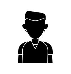 Silhouette man staff hospital practice healthy vector