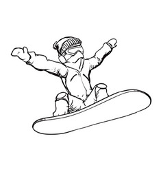 Snowboard sport equipment vector