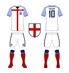 Soccer kit football jersey template for England vector image vector image