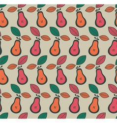 Vintage Pear Fruit Pattern vector image