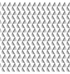 White geometric seamless pattern of triangles vector