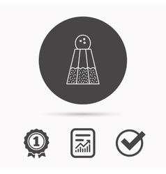 Salt icon sodium spice sign vector