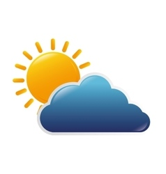 Cloud sun nature vector