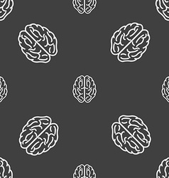 Brain sign seamless pattern on a gray background vector