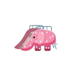 Childrens slide elephant icon cartoon style vector