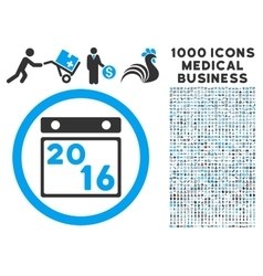 2016 calendar icon with 1000 medical business vector