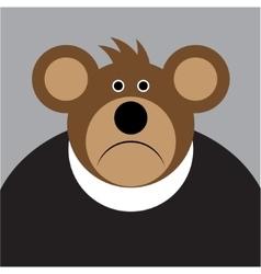 Cartoon - brown sad bear with a big ears vector