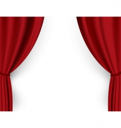 Theater curtain vector