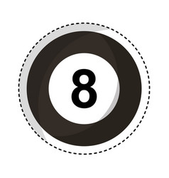 billiard ball eight isolated icon vector image