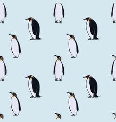 Colorful drawing arctic fauna seamless pattern vector
