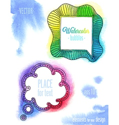 Watercolor ink bubbles1 vector
