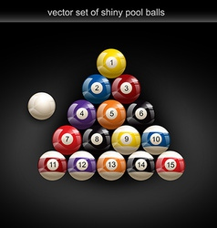 Glossy pool ball vector