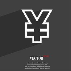 Yen jpy icon symbol flat modern web design with vector