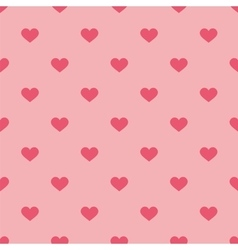 Tile pastel pattern with hearts on pink background vector