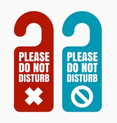 Please do not disturb vector