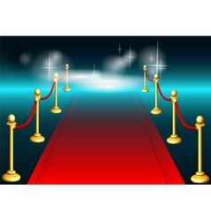 Red carpet and light vector