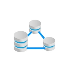 Database servers connection icon vector image