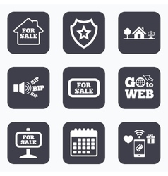 For sale icons real estate selling vector