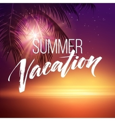 Summer vacation handwriting typography lettering vector