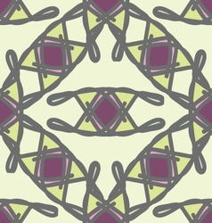 Abstract geometric ornament seamless pattern vector