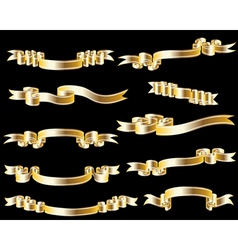 Golden ribbon vector