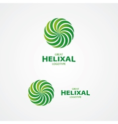 Abstract helix logo vector image