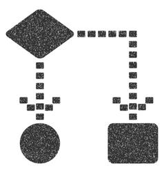 Algorithm scheme grainy texture icon vector