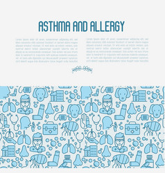 Asthma and allergy concept vector