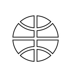 basketball ball black color icon vector image vector image