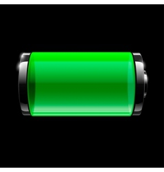 Battery full icon vector image