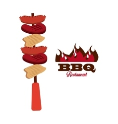 Bbq fresh and delicious food design vector