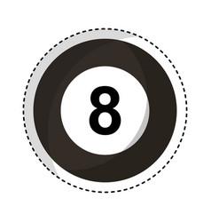 Billiard ball eight isolated icon vector