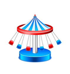 Chained carousel isolated on white vector image vector image