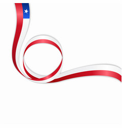 chilean wavy flag background vector image vector image