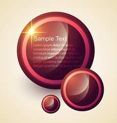 Circles design background vector