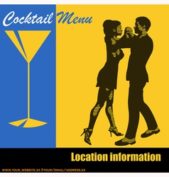 Cocktail dance vector