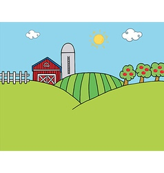 Country Farm vector image