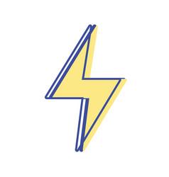 Energy hazard symbol design image vector