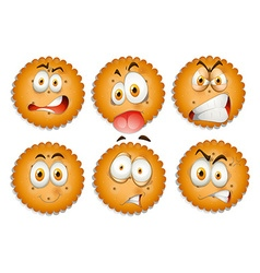 Facial expressions on cookies vector