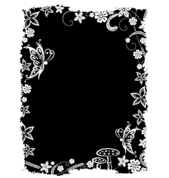 Filigree fantasy background vector