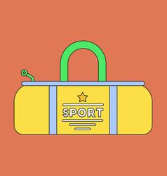 Flat icon on stylish background sports bag vector
