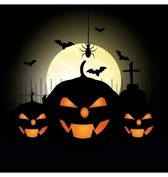 Happy halloween party festival vector image