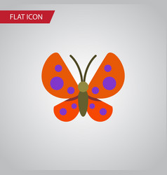 Isolated monarch flat icon moth element vector