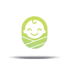 Logo design baby cheerful joyful kid vector
