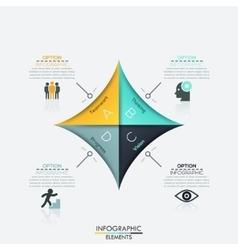Modern arrow business template vector