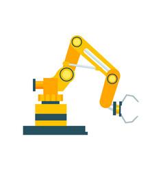 modern robotic conveyor equipment element vector image vector image