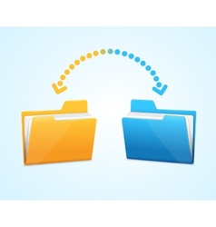 Moving documents between two folders vector image vector image