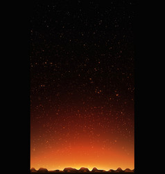 Night sky with stars abstract vector