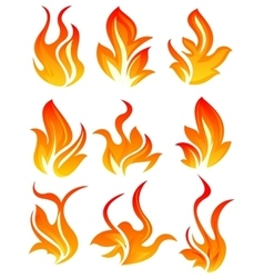 Nine fire icon vector image vector image